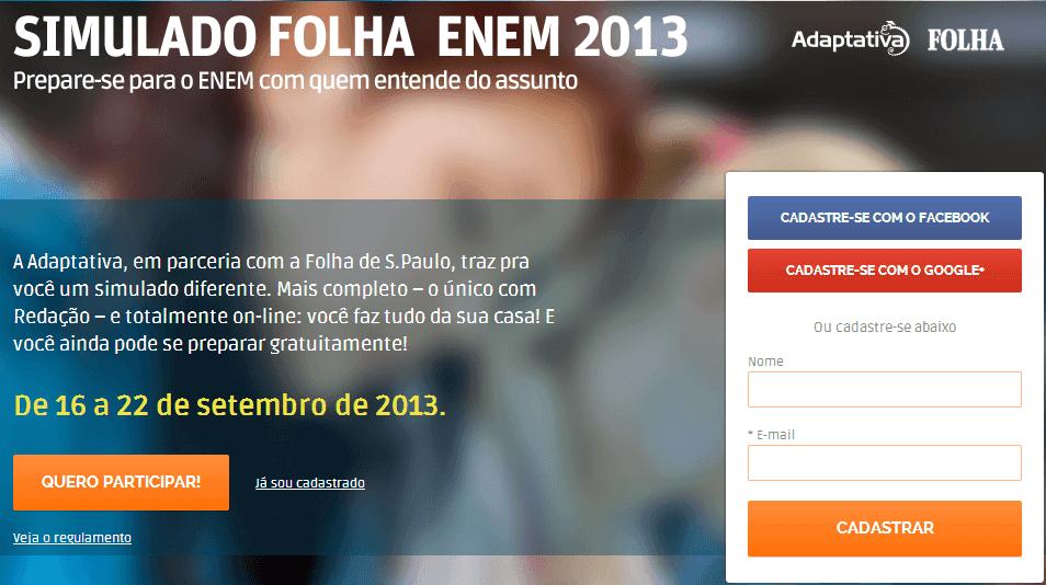 Simulado Folha ENEM 2013