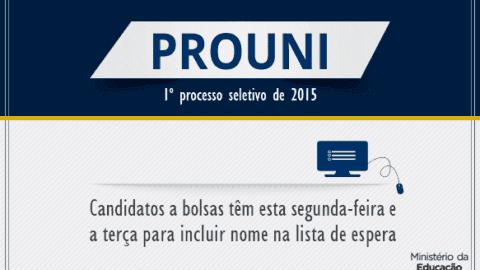 ProUni: Prazo de adesão à lista de espera termina hoje