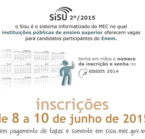 Inscrição para o Sisu 2015