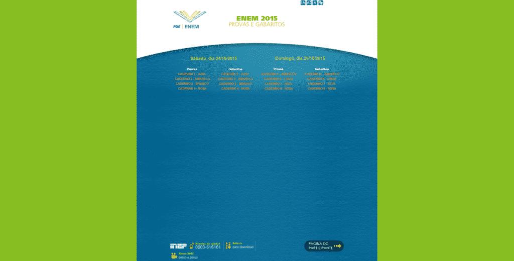 Provas Digitalizadas do Enem 2015