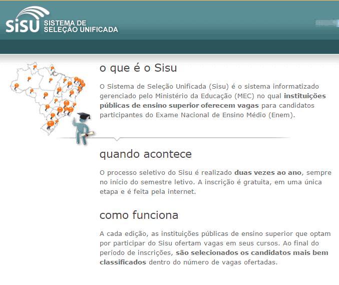 Inscrições Sisu 2016 - vocênoenem