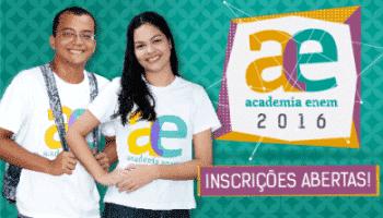 Inscrições para Academia Enem 2016