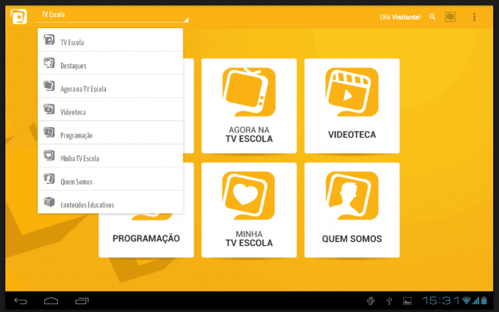 App Tv Escola para Android e iOS