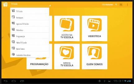 App Tv Escola para Android e iOS