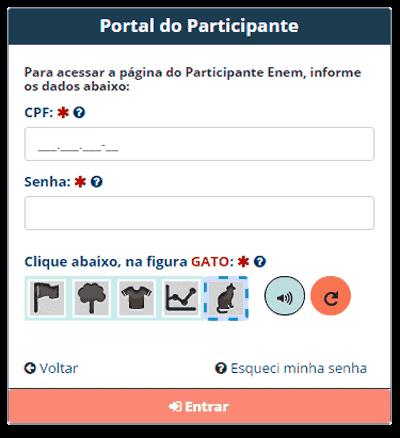 Acessar a Página Participante do Enem