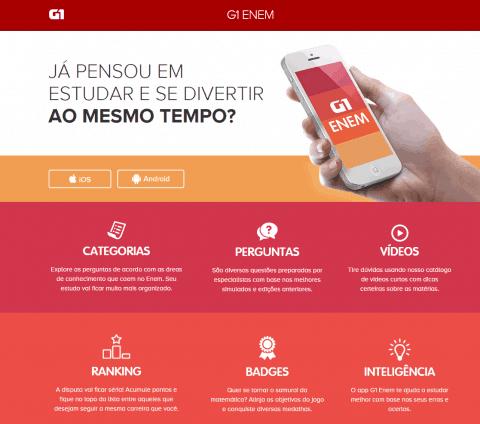 Baixe o aplicativo G1 Enem (Grátis)