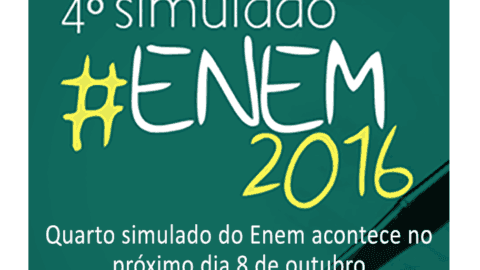 Quarto Simulado do ENEM acontece no próximo sábado