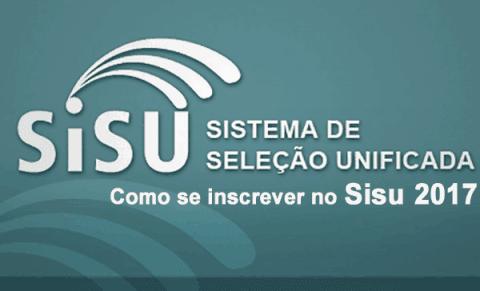 Como se inscrever no Sisu 2017