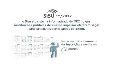 Atenção, prorrogado prazo de inscrição para o Sisu 2017