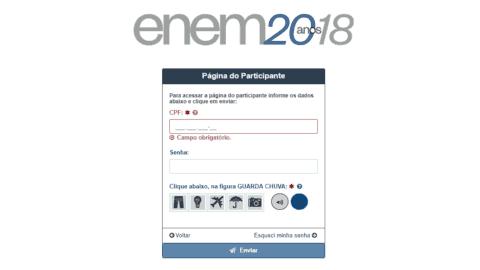 Como acessar sua Página do Participante ENEM 2018