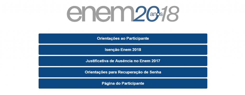 Como acessar sua Página do Participante ENEM 2018 - INEP