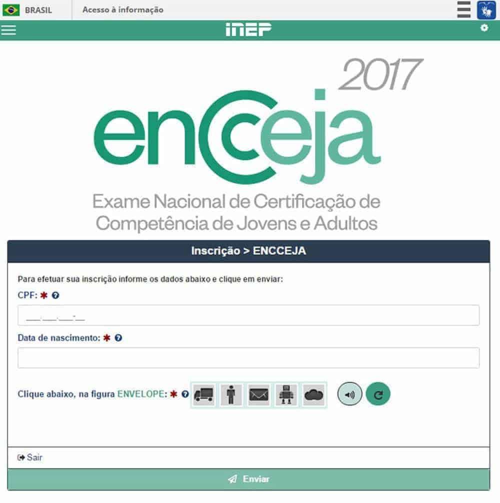 Dados necessários para inscrição no Encceja 2017