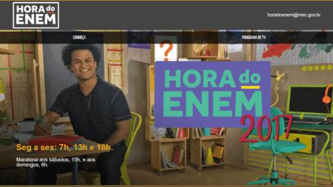 Hora do Enem aborda temas de Redação do Enem 2017