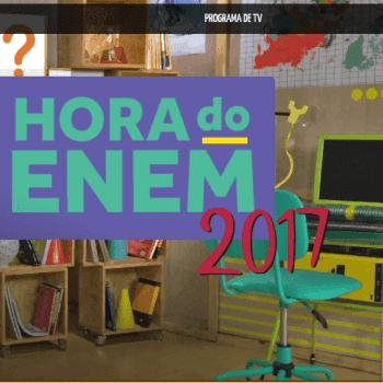 Programa Hora do Enem apresenta temas relevantes para a prova do Enem 2017