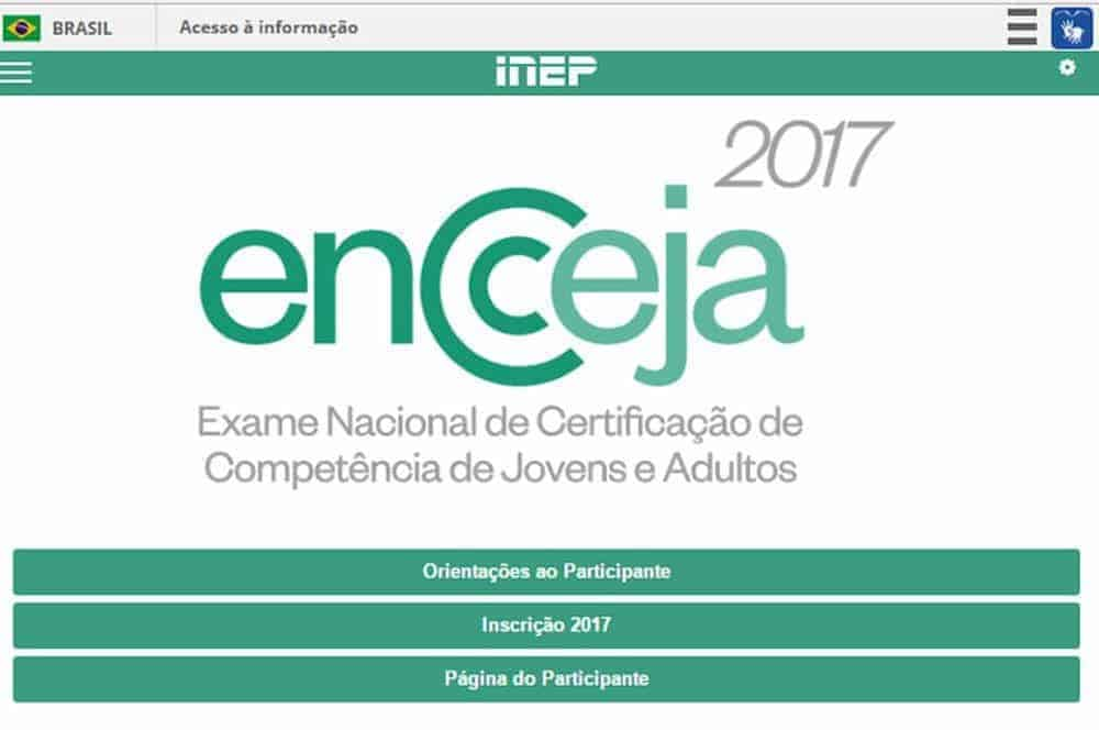 Visite o site do Encceja no portal do Inep