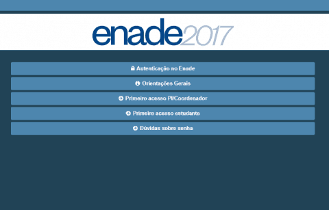 Inscritos no Enade 2017 já podem preencher Questionário do Estudante