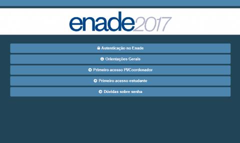 Consultar Locais de Prova do Enade 2017
