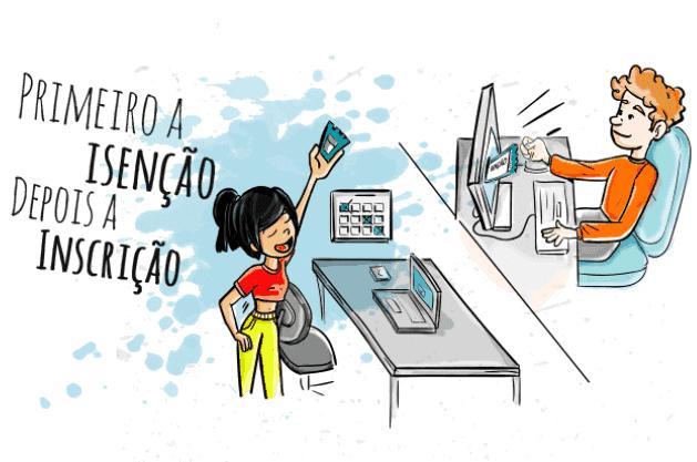 Resultado de imagem para COMEÇA O PEDIDO DE ISENÇÃO DO ENEM 2018