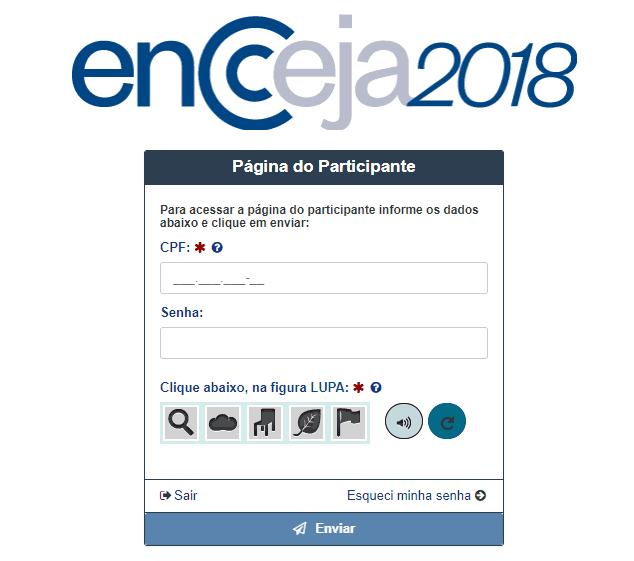 Entenda como acessar a Página do Participante Encceja 2018