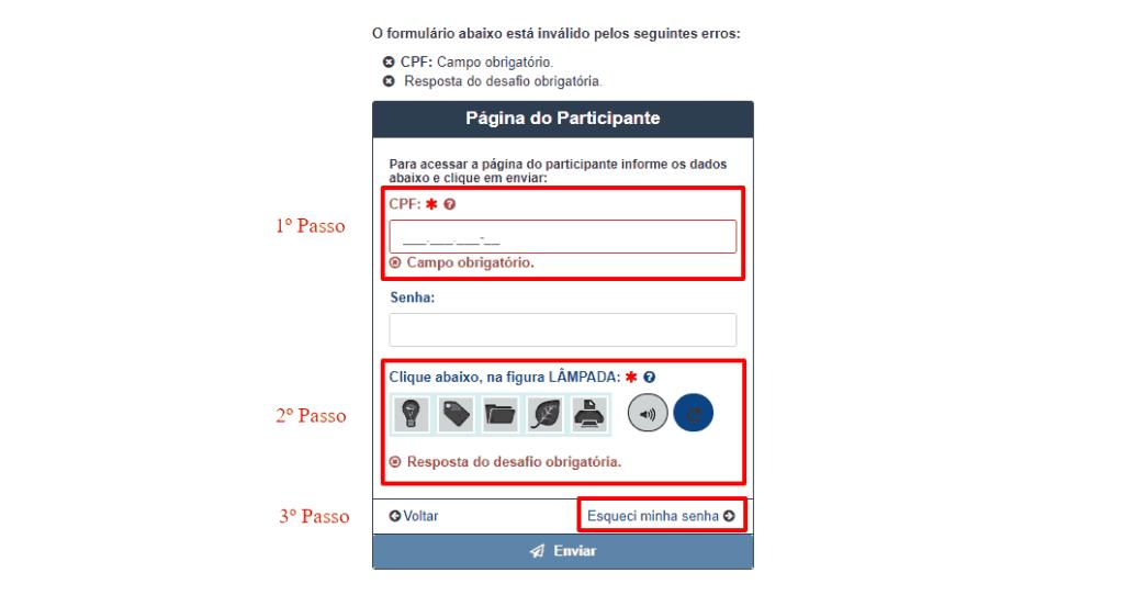 Como acessar sua Página do Participante ENEM 2019 - SENHA