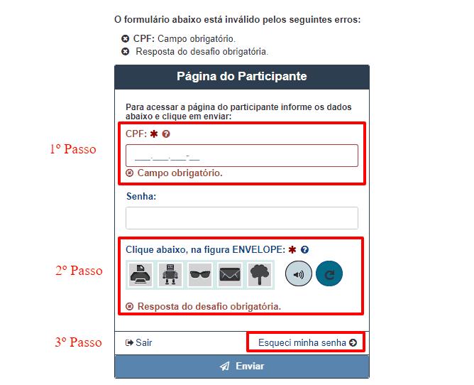 Como acessar sua Página do Participante Encceja - Senha