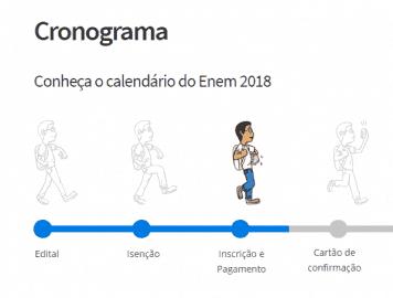 Data de inscrição para o Enem 2018
