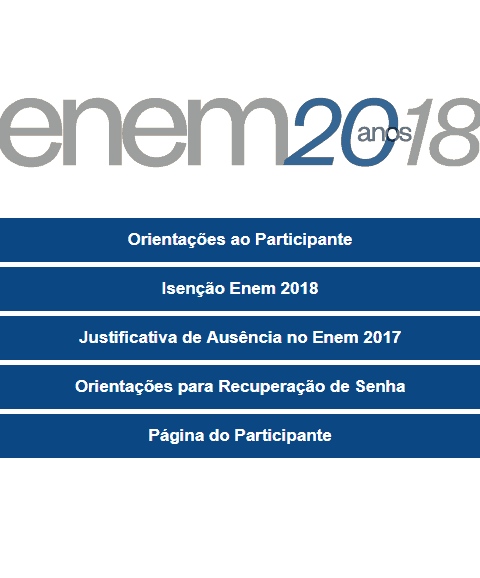 Como acessar a Página do Participante do Enem 2018