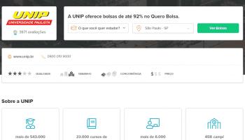 Bolsas de Estudos de até 75% na UNIP