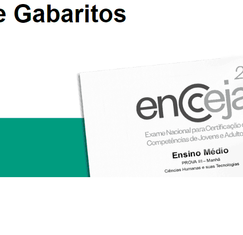 Provas e Gabaritos do ENCCEJA 2018 (Oficiais)