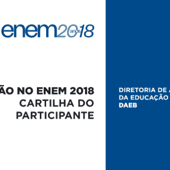 Cartilha do Participante – Redação no Enem 2018