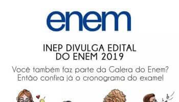 Inep publica Edital do Enem 2019