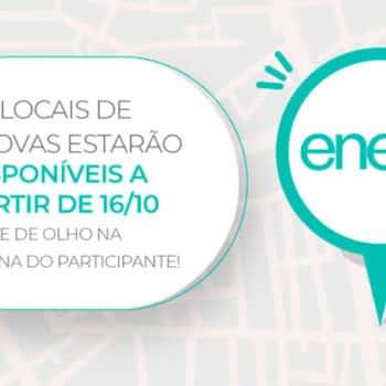 Local de Prova do Enem será divulgado no dia 16