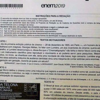 Inep confirma vazamento de prova do Enem 2019