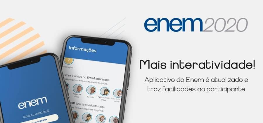Baixe o Aplicativo do ENEM 2020 (Google Play e App Store)