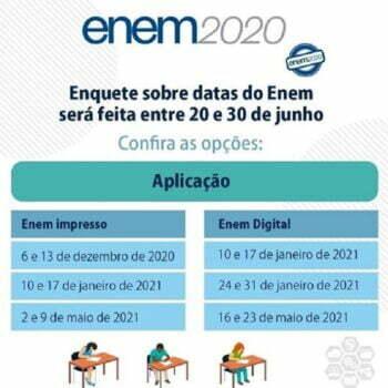 Novas datas do Enem 2020 serão decididas em enquete